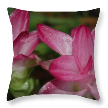 Pink Twins Throw Pillow