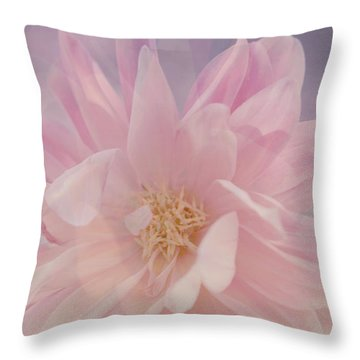 Pink Whisper Throw Pillow by Bonnie Bruno