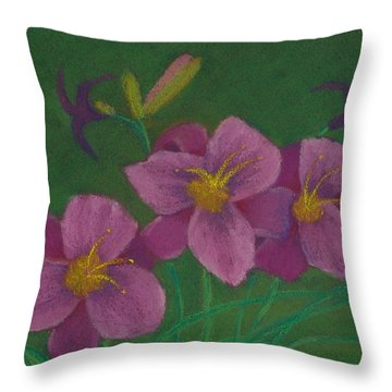 Pink Whispers Throw Pillow