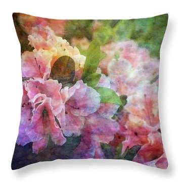 Pink With White Frills 1503 Idp_3 Throw Pillow