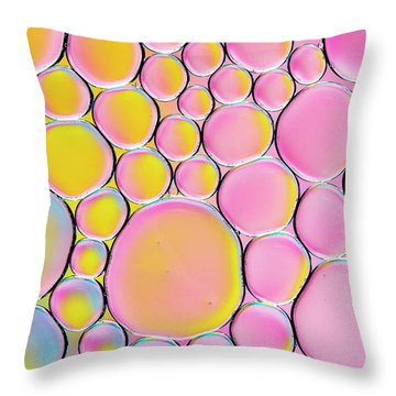 Throw Pillow featuring the photograph Pinkalicious by Tim Gainey