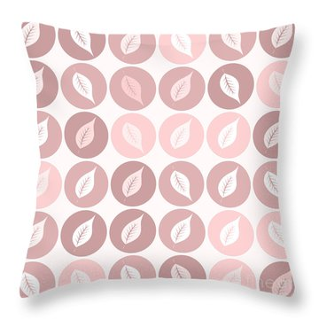 Pinkish Leaves Throw Pillow
