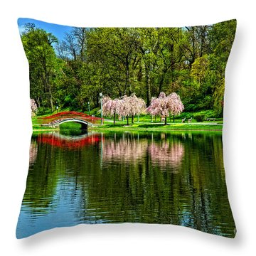 Pinks And Reds Throw Pillow