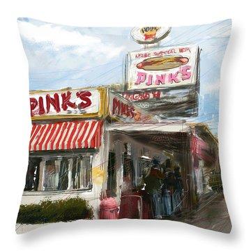 Pinks Throw Pillow