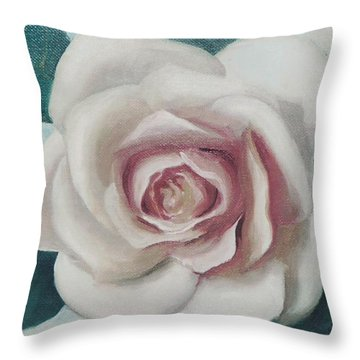 Pinky Flower Throw Pillow