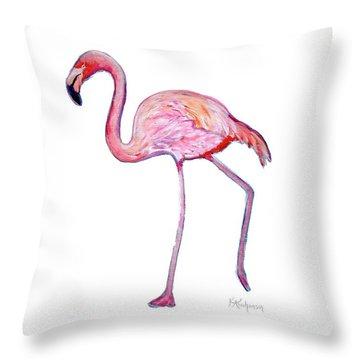Pinky The Flamingo Throw Pillow