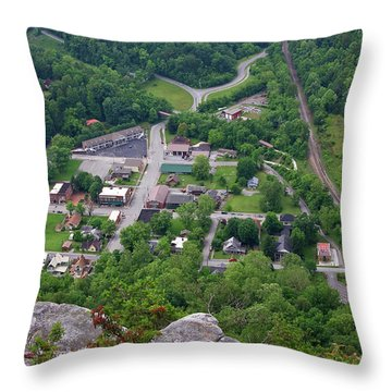 Pinnacle Overlook In Kentucky Throw Pillow