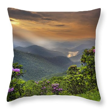 Pinnacle Sunset  Throw Pillow