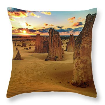Pinnacles 8 Throw Pillow