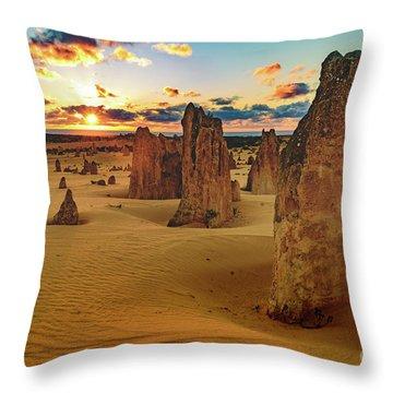 Pinnacles 8 Throw Pillow