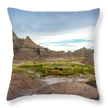 Pinnacles Of The Badlands Throw Pillow