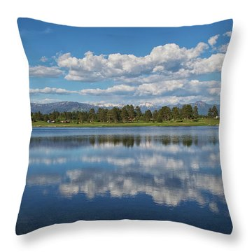 Pinon Lake Reflections Throw Pillow