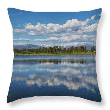 Pinon Lake Reflections Throw Pillow