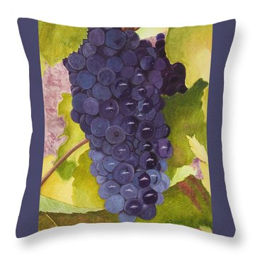 Pinot Noir Ready For Harvest Throw Pillow