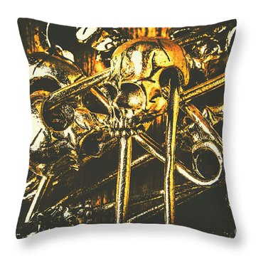 Throw Pillow featuring the photograph Pins Of Horror Fashion by Jorgo Photography - Wall Art Gallery