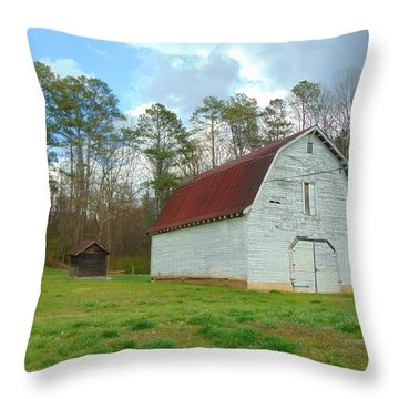 Pinson Farm Barn Throw Pillow