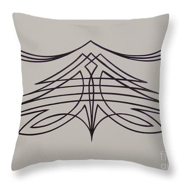 Pinstripe Black On White Throw Pillow