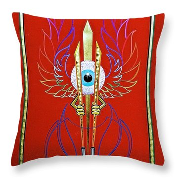 Pinstriper's Icon Throw Pillow