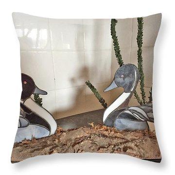 Pintail Ducks Throw Pillow