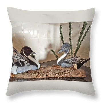 Pintail Ducks Throw Pillow