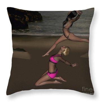 Pinups Dancing Throw Pillow