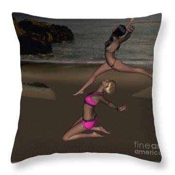 Pinups Dancing Throw Pillow