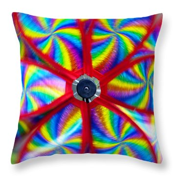 Pinwheel Throw Pillow by Michal Boubin