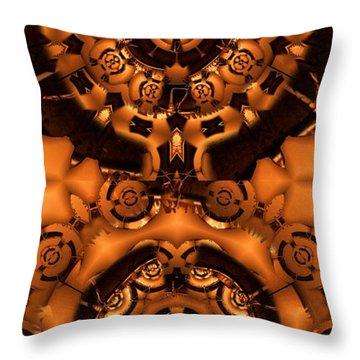 Pinyin Throw Pillow by Ron Bissett