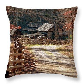 Pioneer Farm Throw Pillow by Brenda Bostic