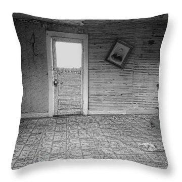 Pioneer Home Interior - Nevada City Ghost Town Montana Throw Pillow by Daniel Hagerman