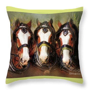 Throw Pillow featuring the digital art  Pioneers by Trudi Simmonds