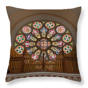 Pipe Organ - Church Throw Pillow