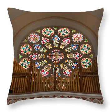 Pipe Organ - Church Throw Pillow