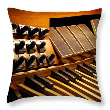 Pipe Organ Pedals Throw Pillow