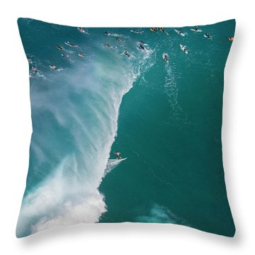 Pipe Tube Overvew Throw Pillow