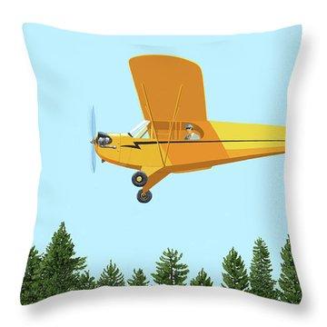 Piper Cub Piper J3 Throw Pillow