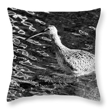 Piper Profile, Black And White Throw Pillow