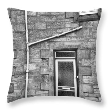 Throw Pillow featuring the photograph Pipes And Doorway by Christi Kraft