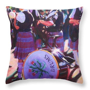 Pipes And Drums Throw Pillow