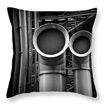 Pipes Throw Pillow by Dave Bowman