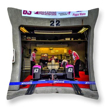 Pippa Mann Garage 2016 Throw Pillow