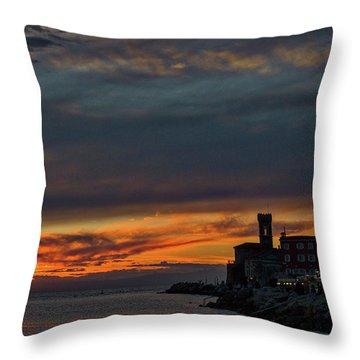 Throw Pillow featuring the photograph Piran Slovenia Sunset #2 by Stuart Litoff