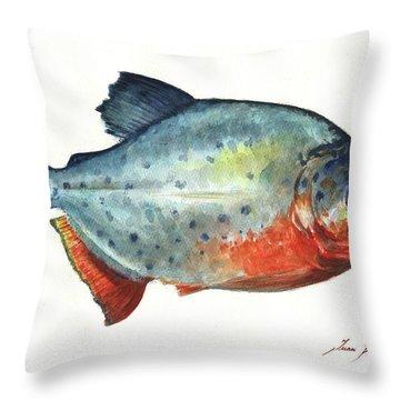 Piranha Fish Throw Pillow
