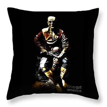 Throw Pillow featuring the photograph Pirate And Skull by Annie Zeno