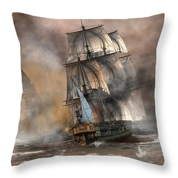 Pirate Battle Throw Pillow