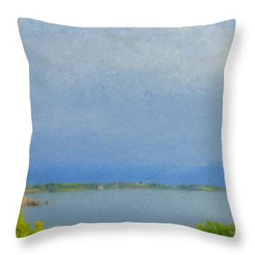 Pirate Cove Jamestown Ri Throw Pillow
