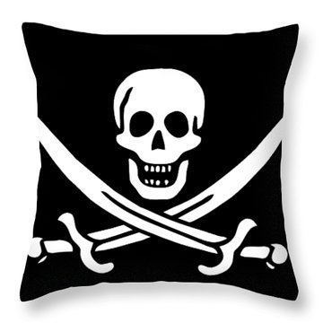Pirate Flag Jolly Roger Of Calico Jack Rackham Tee Throw Pillow