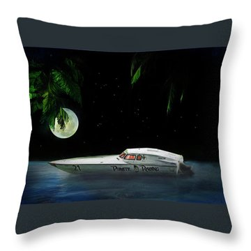 Pirate Racing Throw Pillow by Michael Cleere