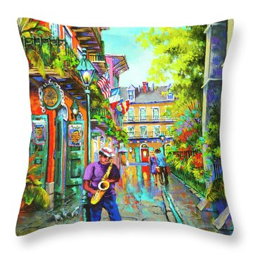 Pirate Sax  Throw Pillow