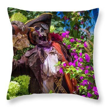 Pirate Skeleton Drinking Throw Pillow